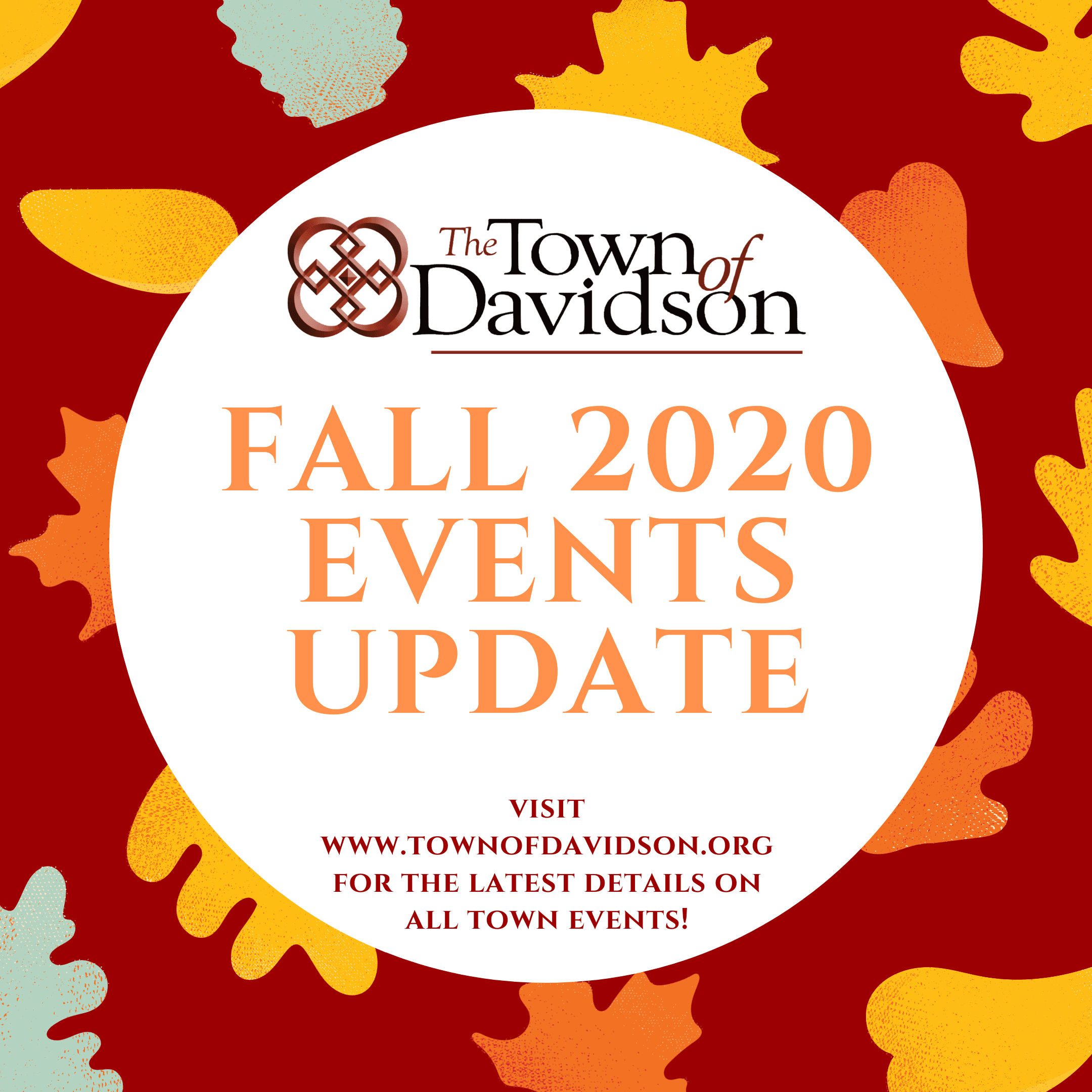 Fall 2020 Events graphic